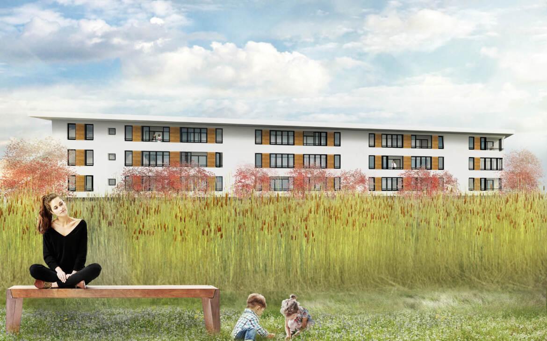 Ontwerp appartement woongebouw almere buiten arc2 architecten almere